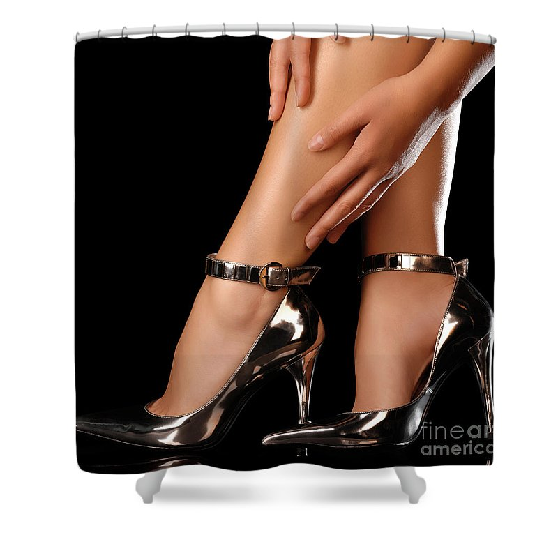 Sexy Shower Curtain featuring the photograph Sexy Shoes by Maxim Images Prints