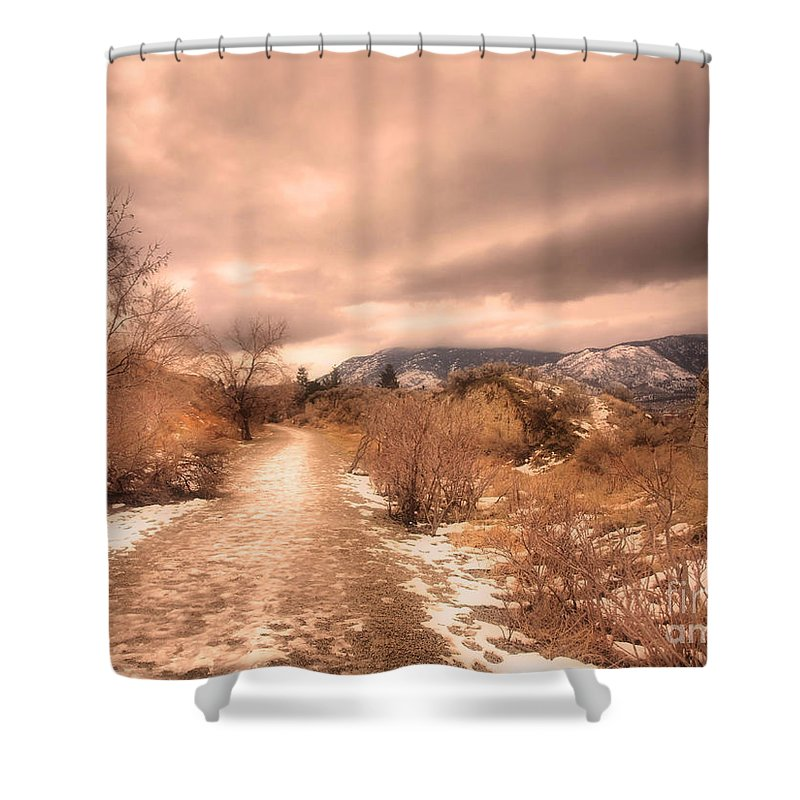 Road Shower Curtain featuring the photograph The Kvr Collection by Tara Turner