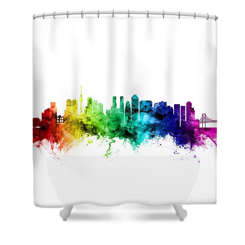 Tokyo Skyline Shower Curtains
