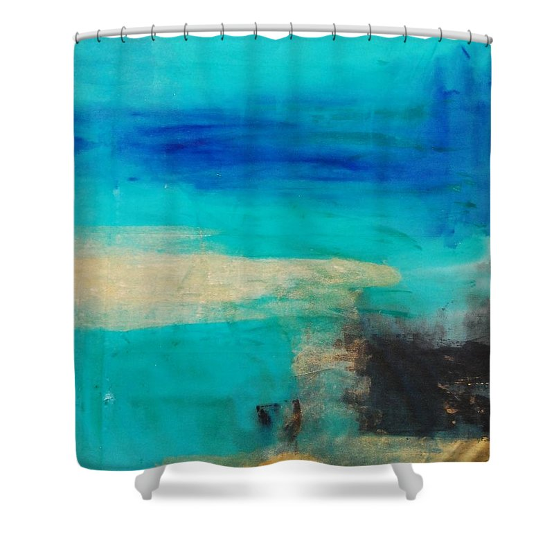 Abstract Shower Curtain featuring the painting Untitled by Lauren Luna