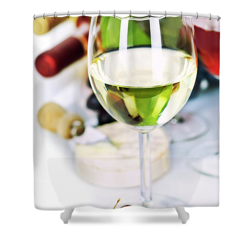 Appetizer Shower Curtain featuring the photograph Wine by Natalia Klenova