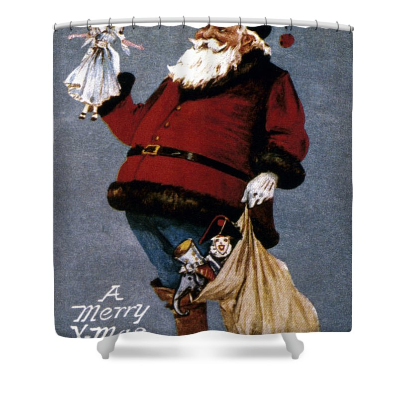 19th Century Shower Curtain featuring the photograph American Christmas Card by Granger