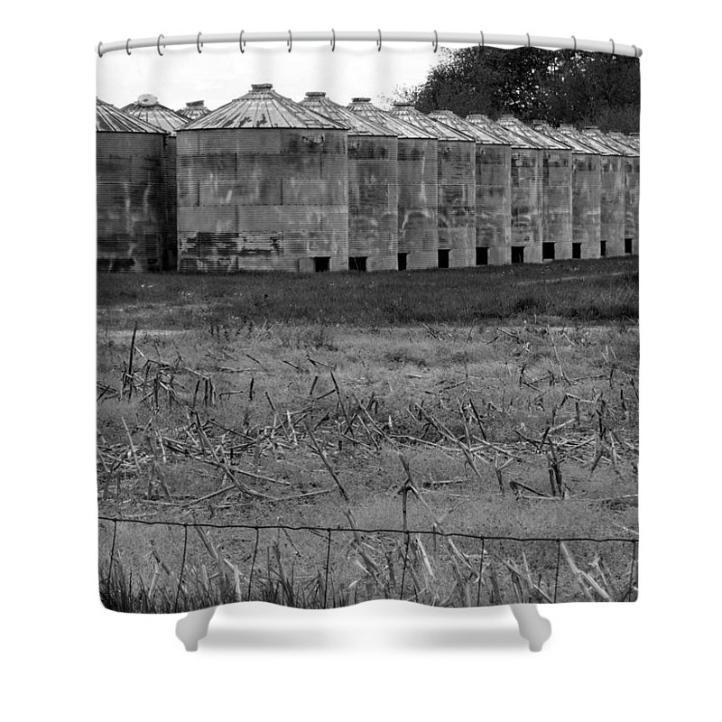 Barn Shower Curtain featuring the photograph 30 Survivors by Ed Smith