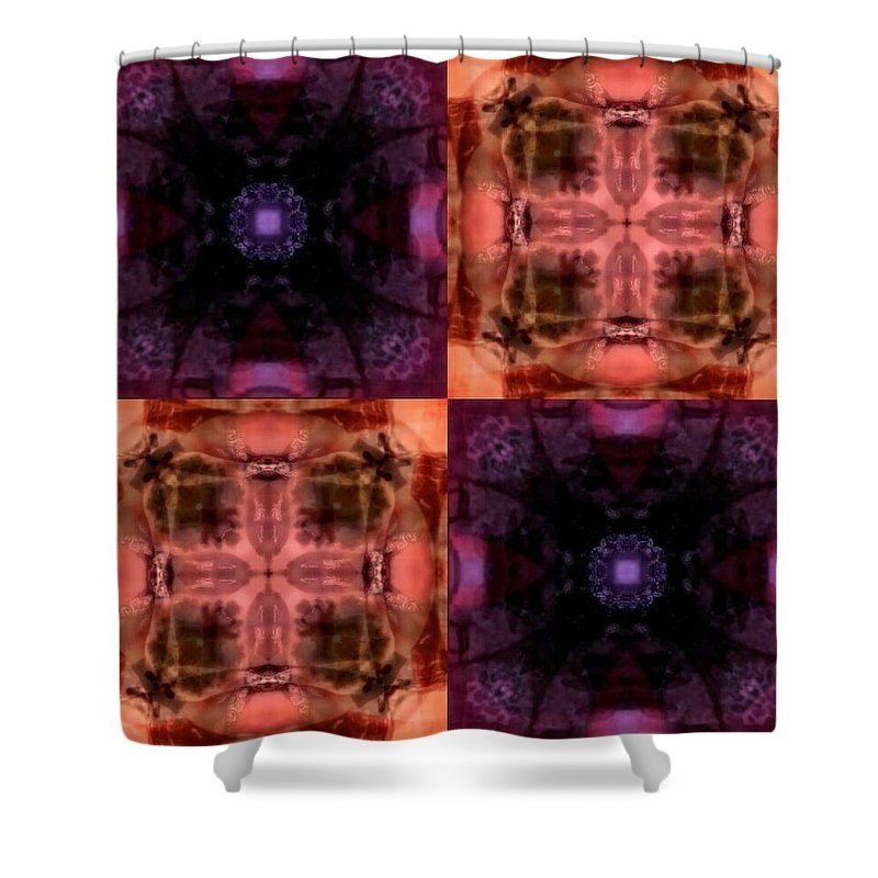 Desertcoyote Shower Curtain featuring the digital art 30mt37t40 by Randy Nile