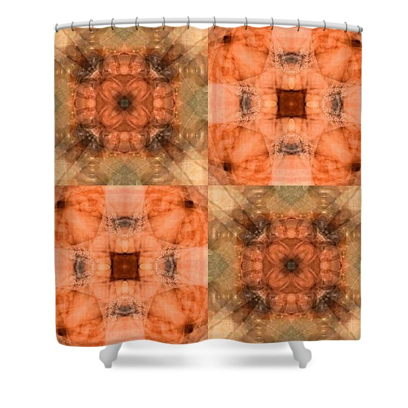 Desertcoyote Shower Curtain featuring the digital art 30mt5t18 by Randy Nile