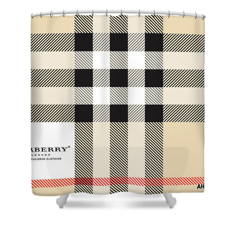 Iphone Shower Curtain Featuring The Digital Art Burberry And Fashion By Mark Jen