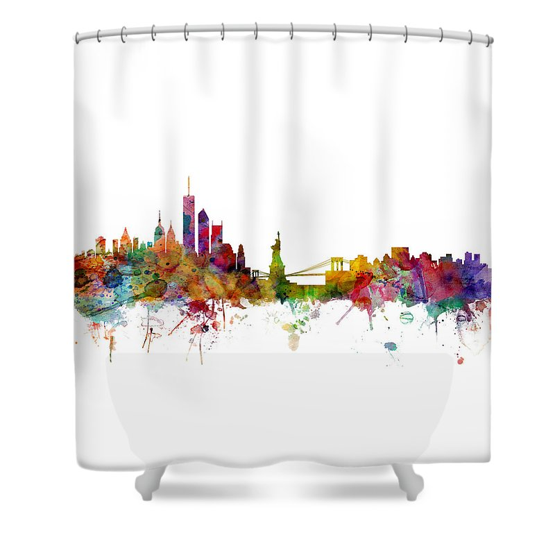 New York Skyline Shower Curtains