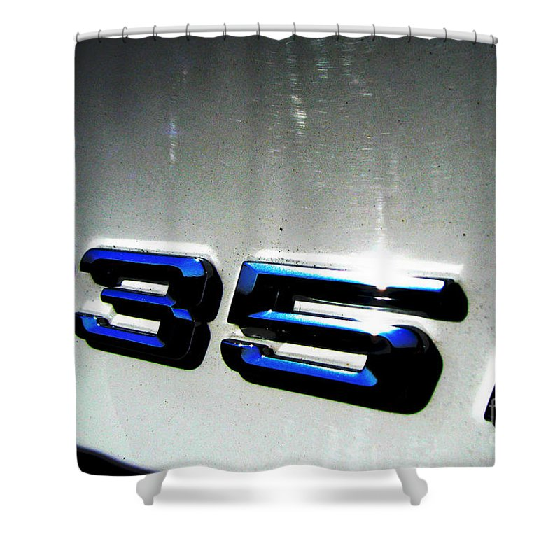 335i Shower Curtain featuring the photograph 335i by Amanda Barcon