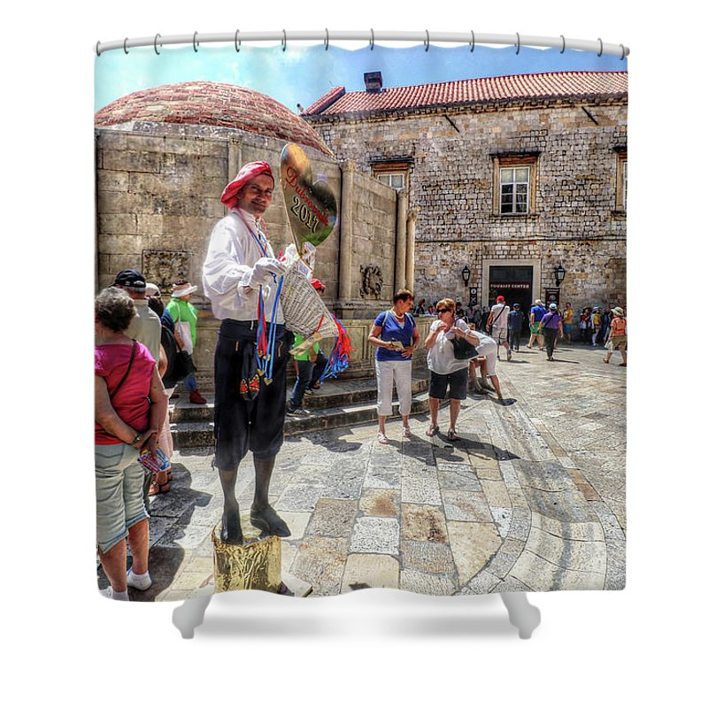 Dubrovnik Croatia Shower Curtain featuring the photograph Dubrovnik Croatia by Paul James Bannerman