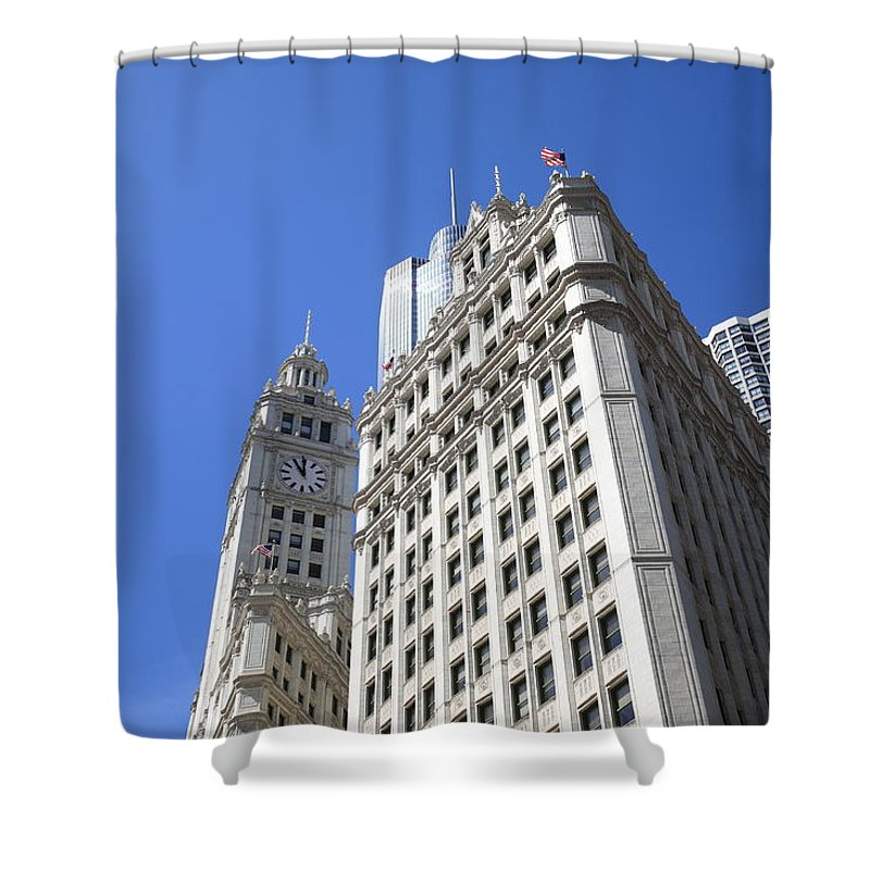 America Shower Curtain featuring the photograph Chicago Skyline by Frank Romeo