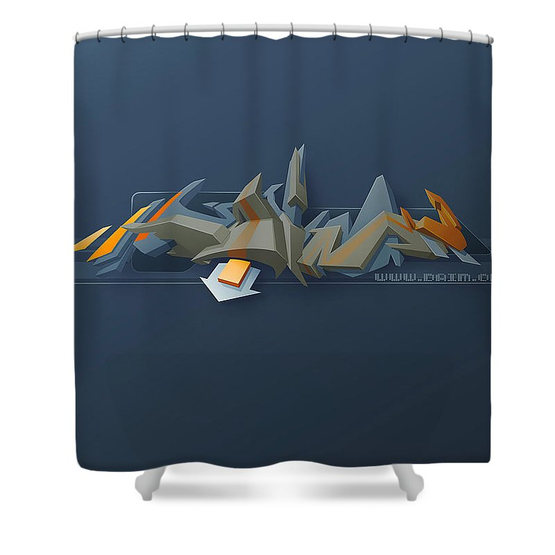 Unknown Shower Curtain featuring the digital art Unknown by Mery Moon