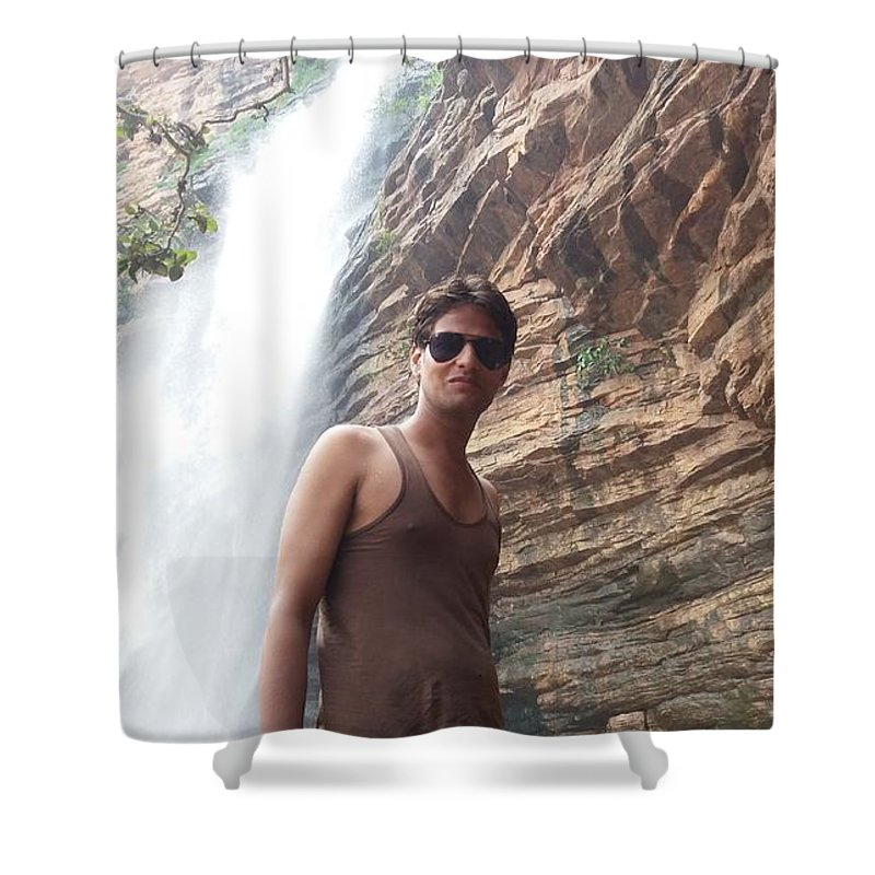 Harpal Singh Jadon Shower Curtain featuring the pyrography Harpal Singh Jadon by Harpal Singh Jadon Jadon