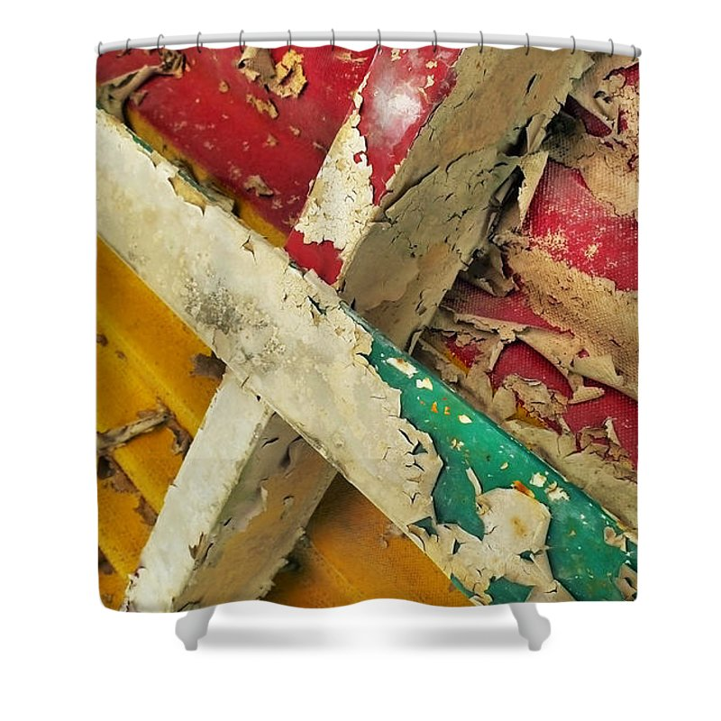 Abstract Shower Curtain featuring the photograph 377 At 41 Series 1 by Skip Hunt