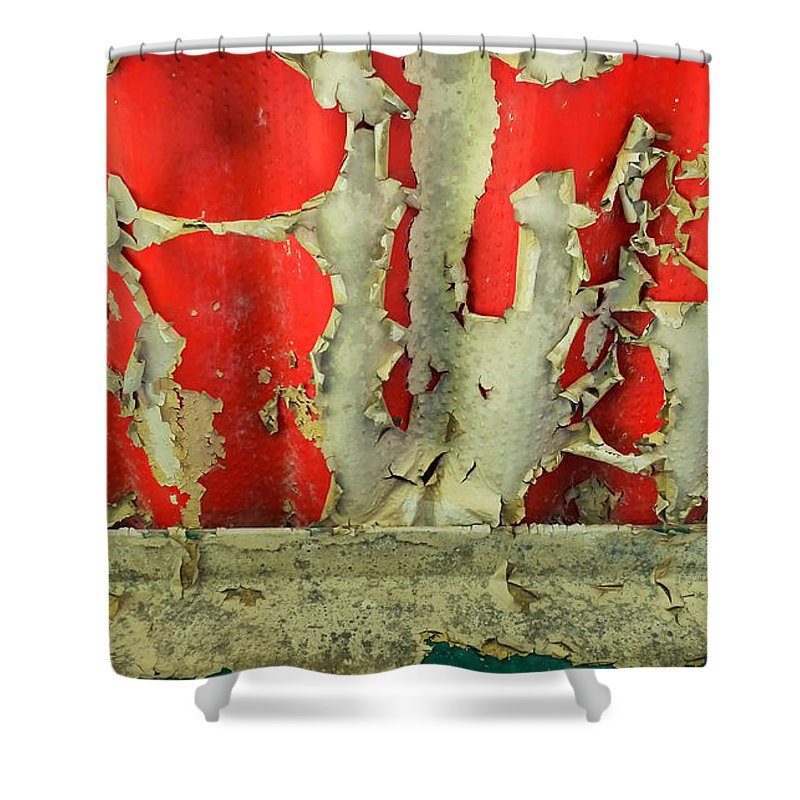 Abstract Shower Curtain featuring the photograph 377 At 41 Series 3 by Skip Hunt