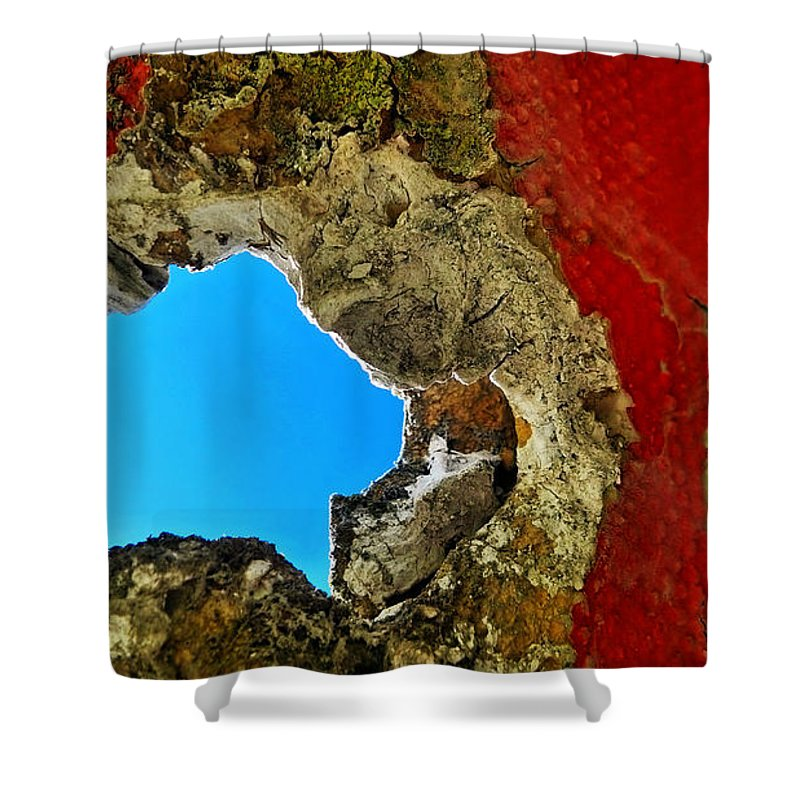 Abstract Shower Curtain featuring the photograph 377 At 41 Series 4 by Skip Hunt