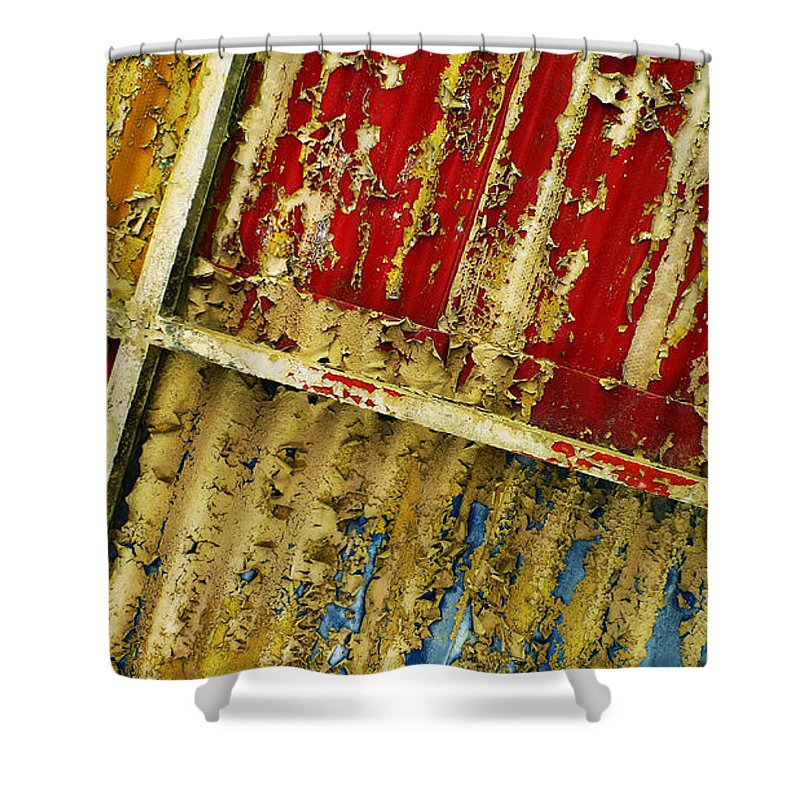 Abstract Shower Curtain featuring the photograph 377 At 41 Series 6 by Skip Hunt