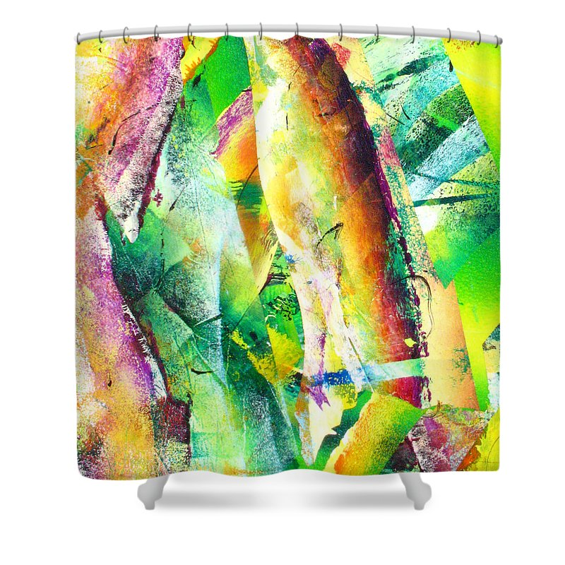 Shower Curtain featuring the painting Abstract by Jay Bonifield