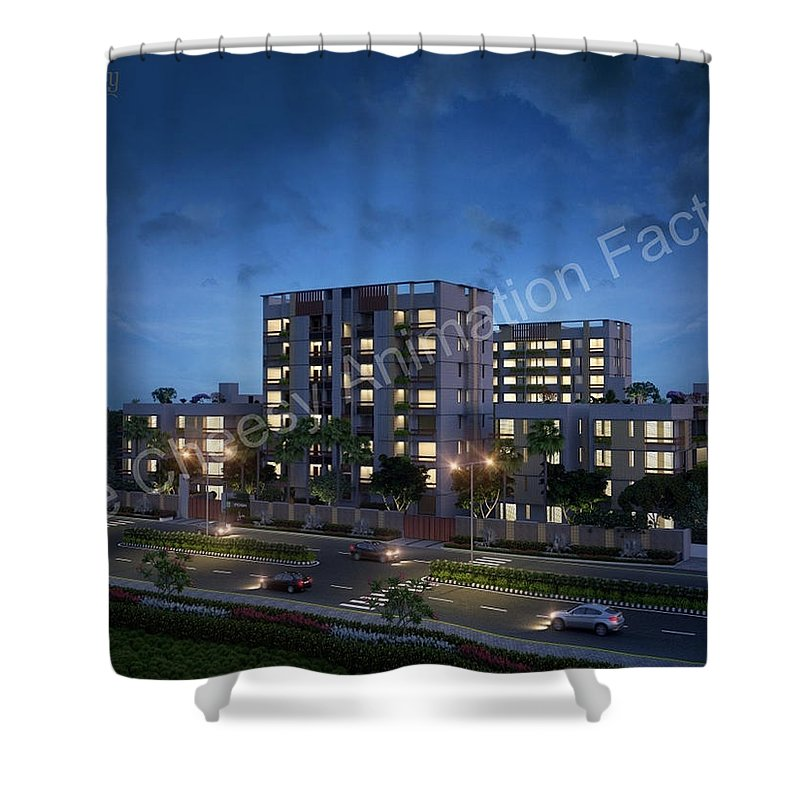 3d Exterior Design Shower Curtain featuring the digital art 3d Exterior Design Services by 3D Exterior Design