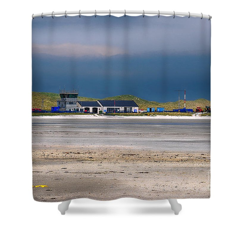 Barra Shower Curtain featuring the photograph Barra Airport by Smart Aviation