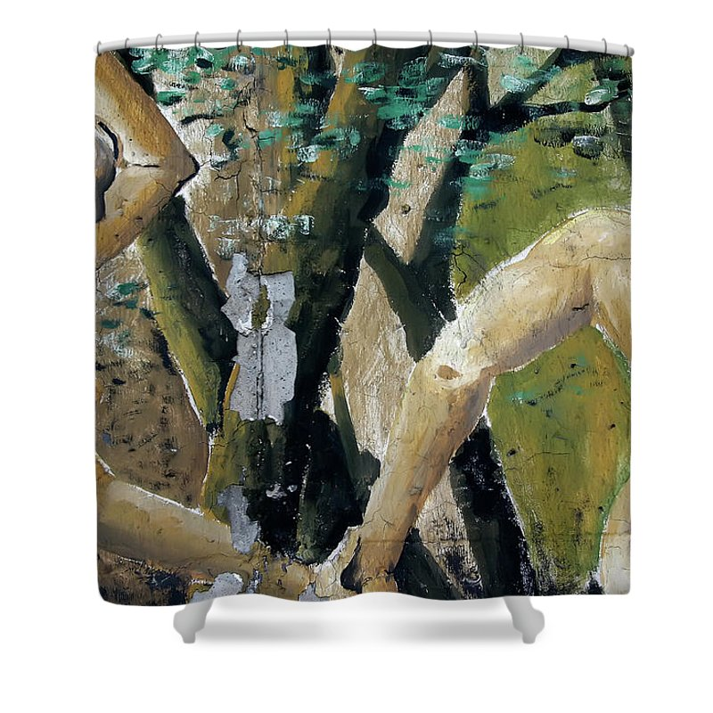 Berlin Shower Curtain featuring the photograph Berlin Wall Mural by KG Thienemann