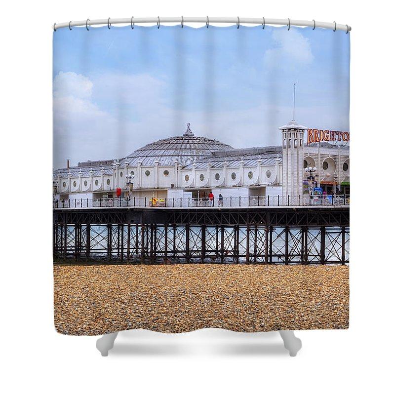 Brighton Pier Shower Curtain featuring the photograph Brighton Pier by Joana Kruse