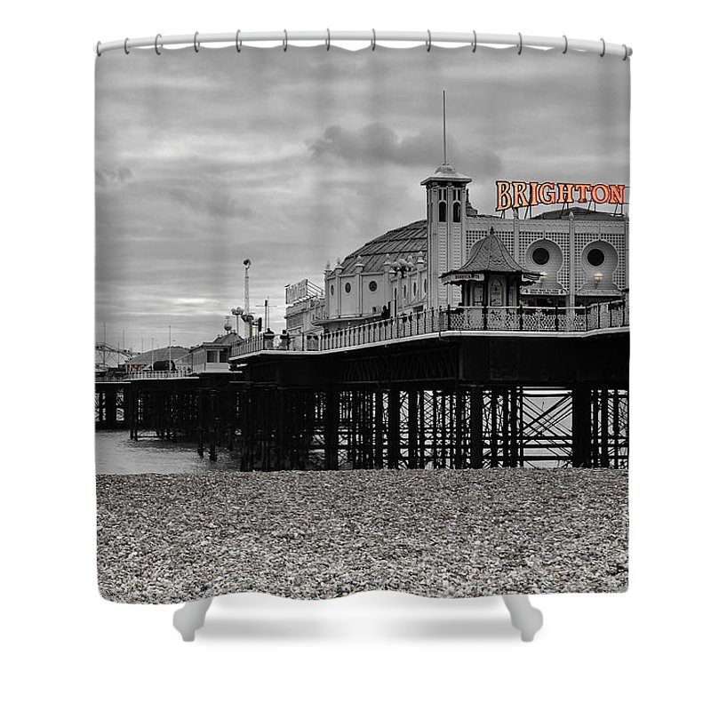 Brighton Photographs Shower Curtains