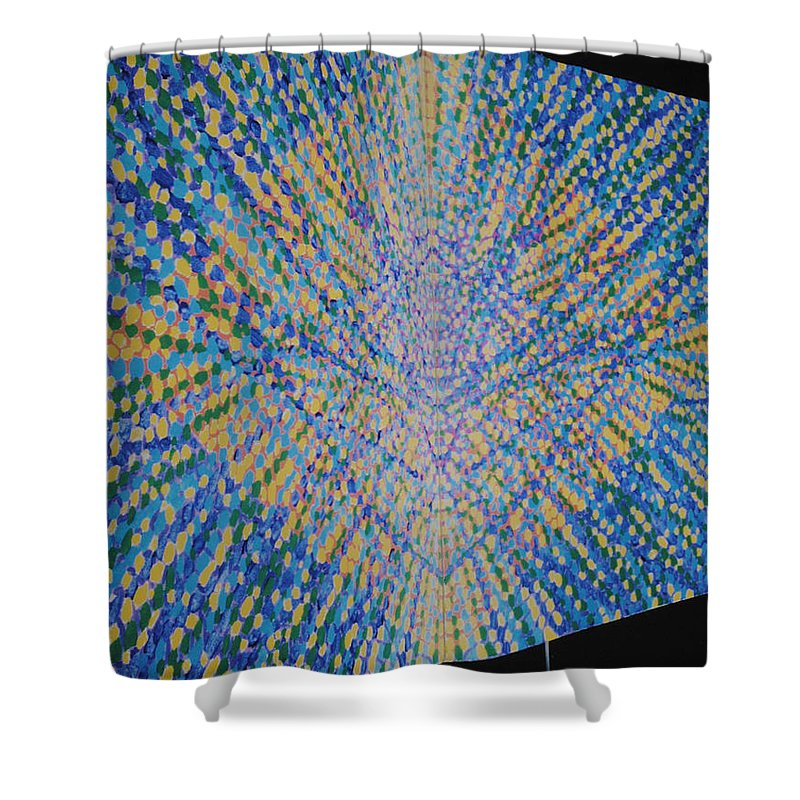 Inspirational Shower Curtain featuring the painting Butterfly Dream by Kyung Hee Hogg