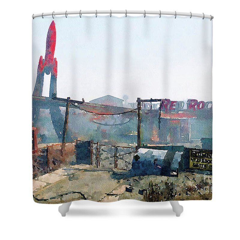 Game Art Shower Curtain Featuring The Digital Fallout