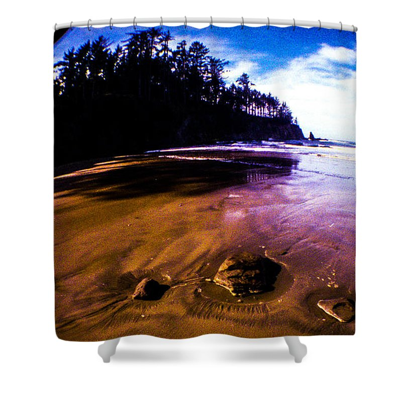 Shower Curtain featuring the photograph Fisheye Camera by Angus Hooper Iii