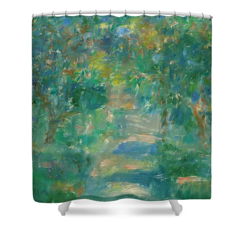Park Shower Curtain featuring the painting Garden by Robert Nizamov