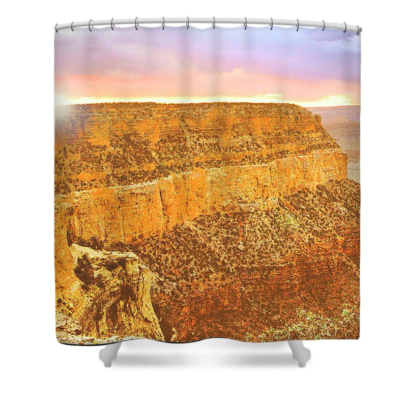 Grand Canyon Shower Curtain featuring the photograph Grand Canyon Sunset by A Gurmankin