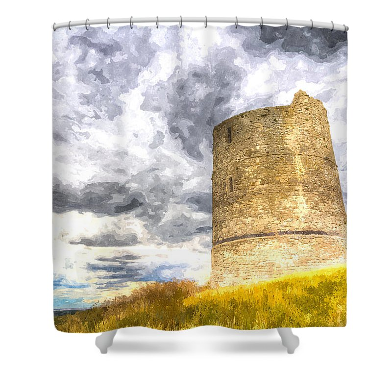 Hadleigh Shower Curtain featuring the photograph Hadleigh Castle Art by David Pyatt