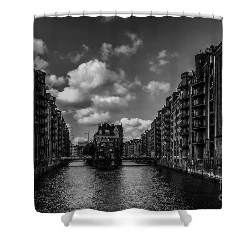 District Shower Curtain featuring the photograph Hamburg by Tino Lehmann