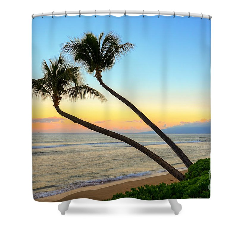 Island Shower Curtain featuring the photograph Island Sunrise by Kelly Wade