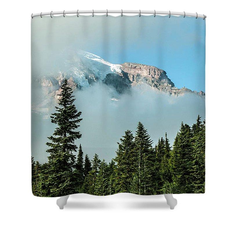 Shower Curtain featuring the photograph Mt Rainier by Bernd Billmayer