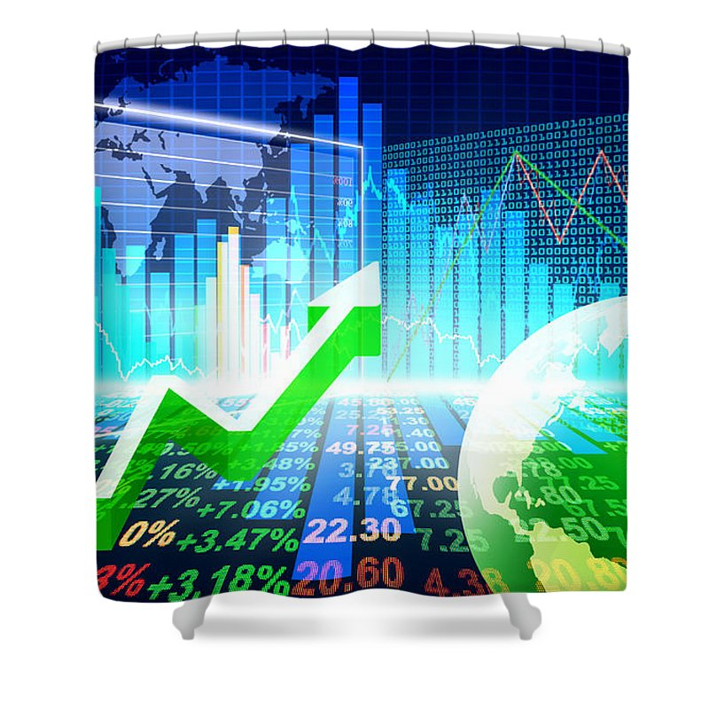 Analysis Shower Curtain featuring the photograph Stock Market Concept by Setsiri Silapasuwanchai