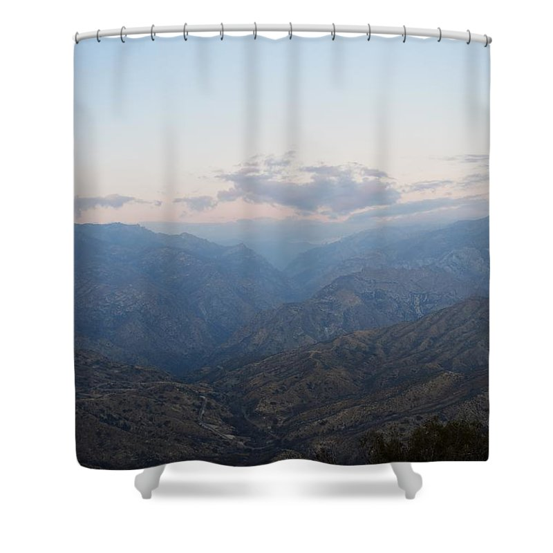Alpine Shower Curtain featuring the photograph Sunrise Over Kings Canyon by Will Sylwester