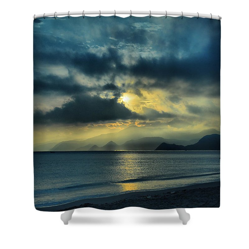 Shower Curtain featuring the photograph Sunshine At Puerto Cabello by Galeria Trompiz