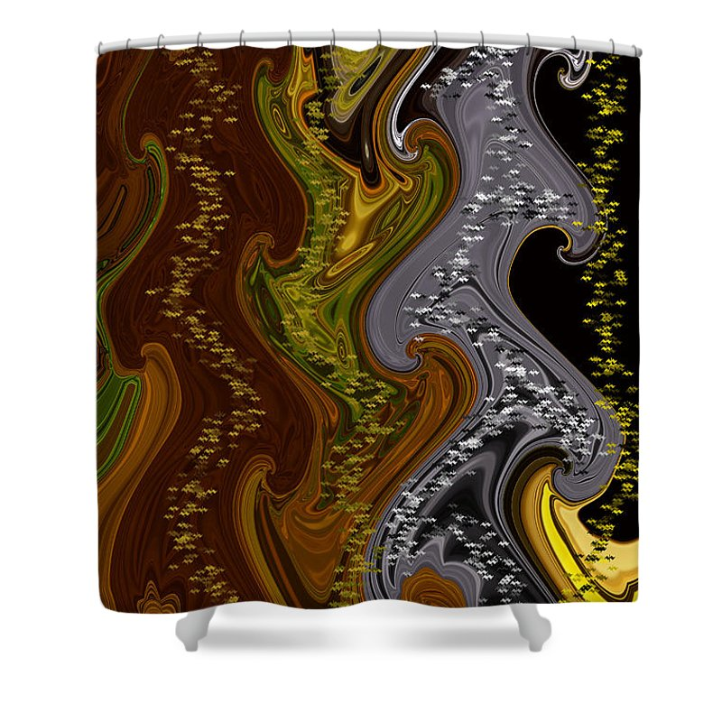 Abstract Shower Curtain featuring the digital art 4 U 185 by John Saunders