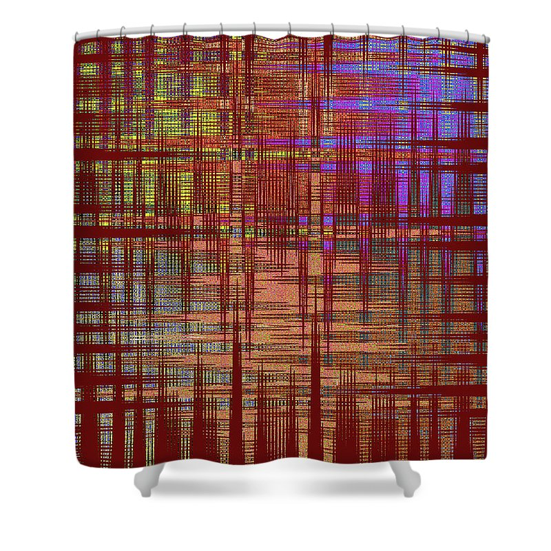 Abstract Shower Curtain featuring the digital art 4 U 538 by John Saunders