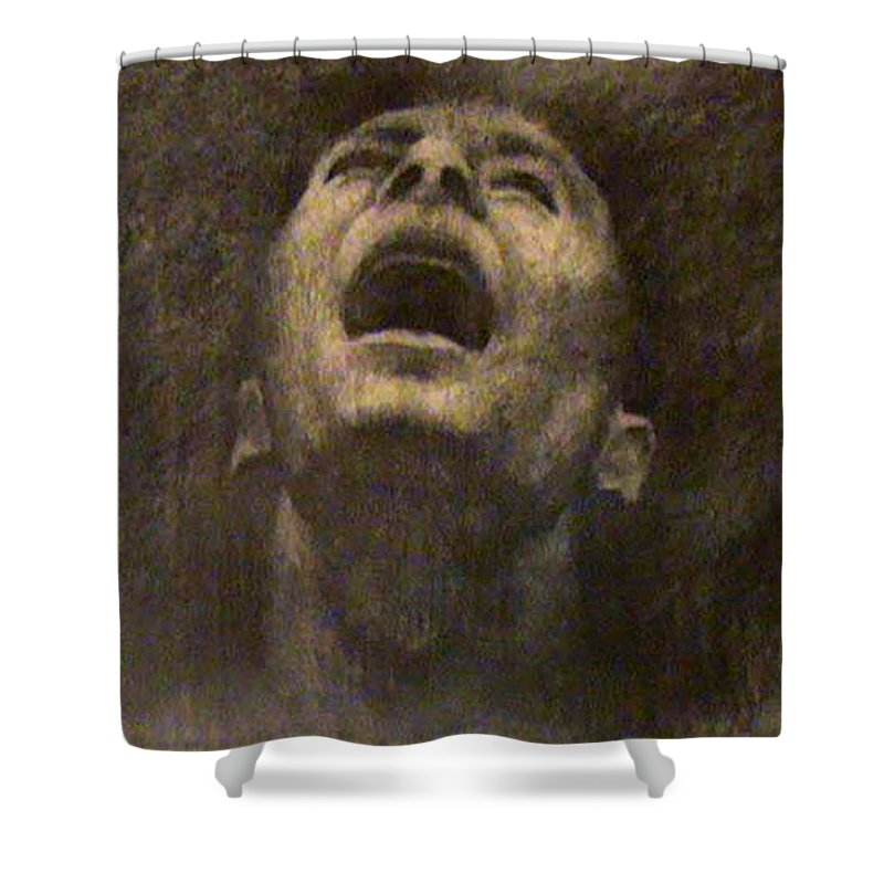 Charcoal Shower Curtain featuring the drawing Untitled by Ioulia Sotiriou