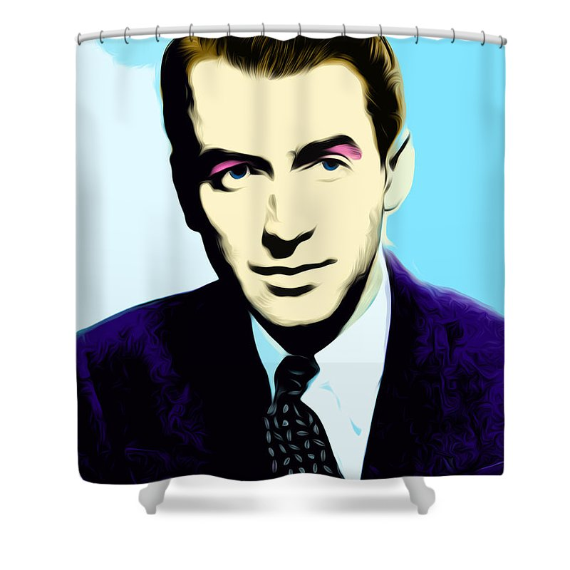 James Stewart Shower Curtain featuring the digital art Untitled by The untalented-talented Artist