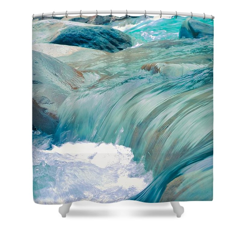Beach Shower Curtain featuring the photograph Water by FL collection