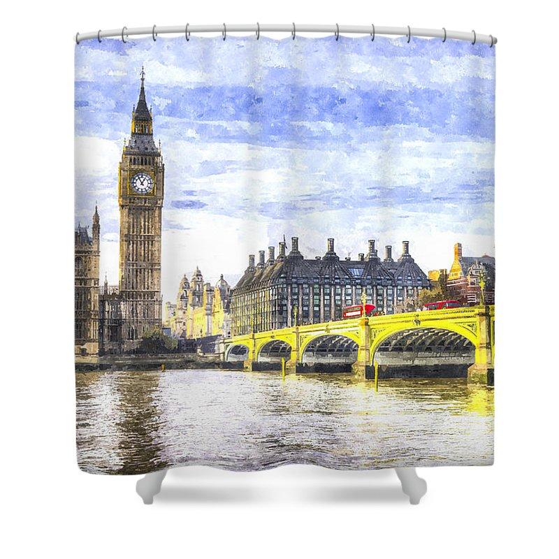 London Shower Curtain featuring the photograph Westminster Bridge And Big Ben Art by David Pyatt