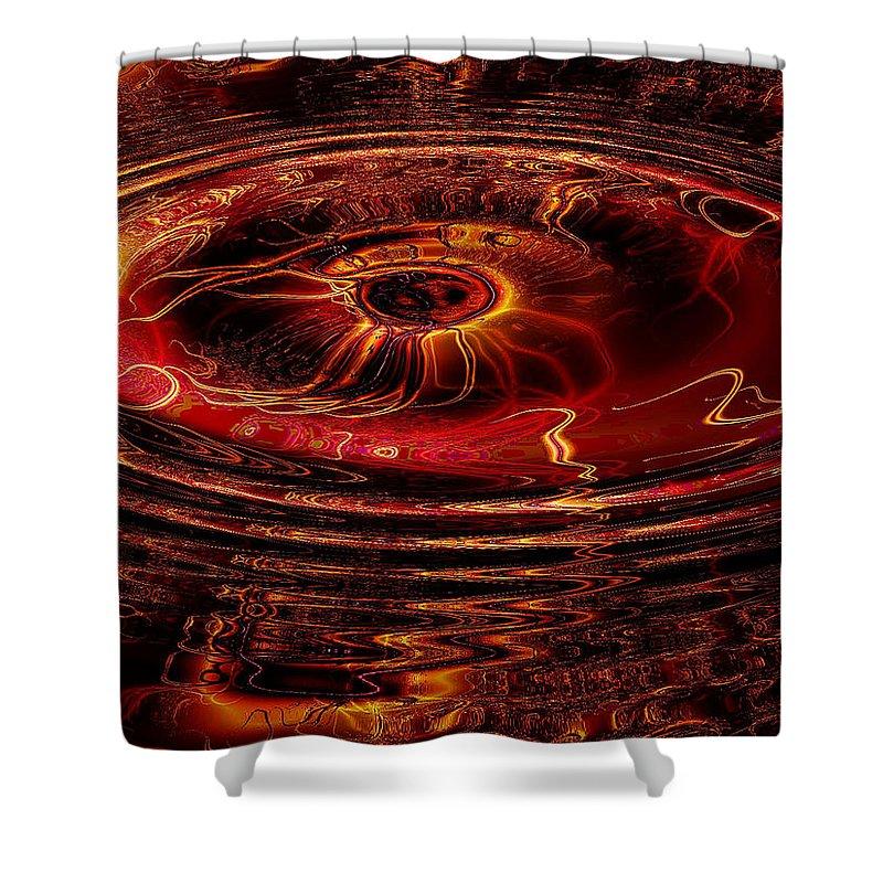 Fractal Shower Curtain featuring the digital art 40 Lashes by Robert Orinski