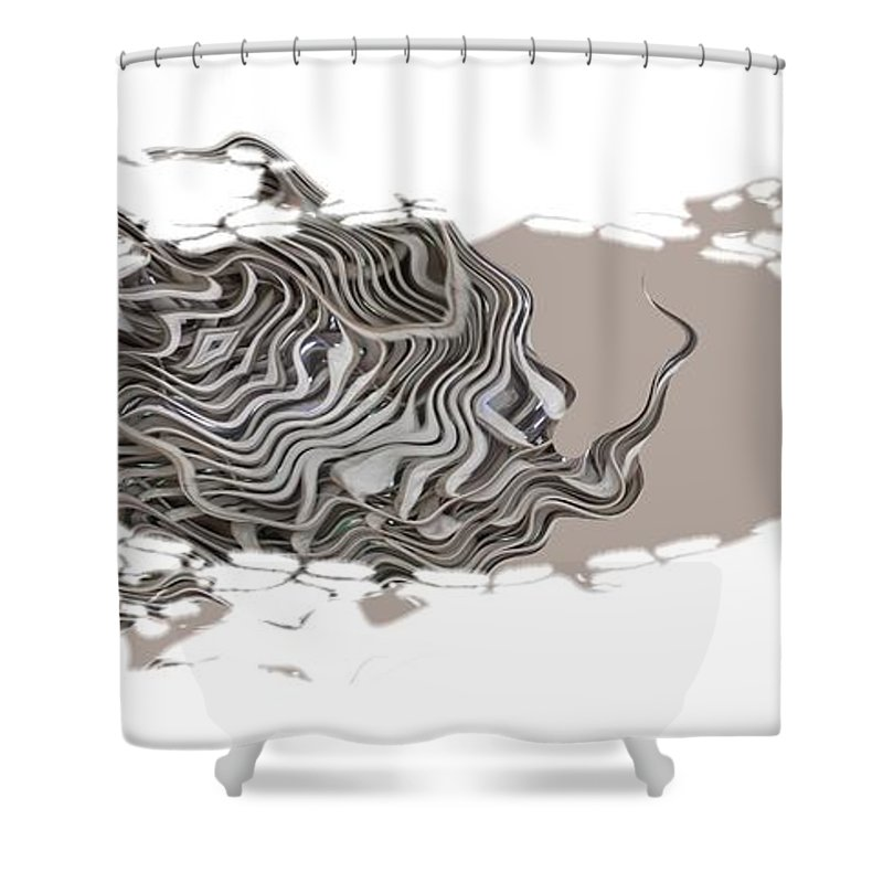 Abstract Shower Curtain featuring the digital art 401k by Ron Bissett