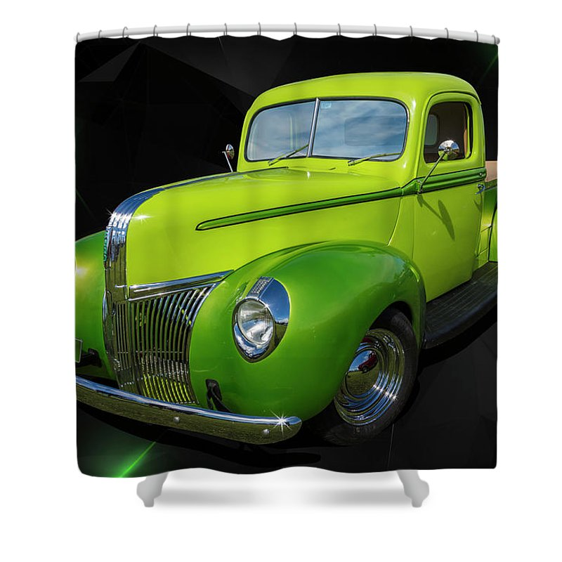 Pickup Shower Curtain featuring the photograph 40s Ford by Keith Hawley