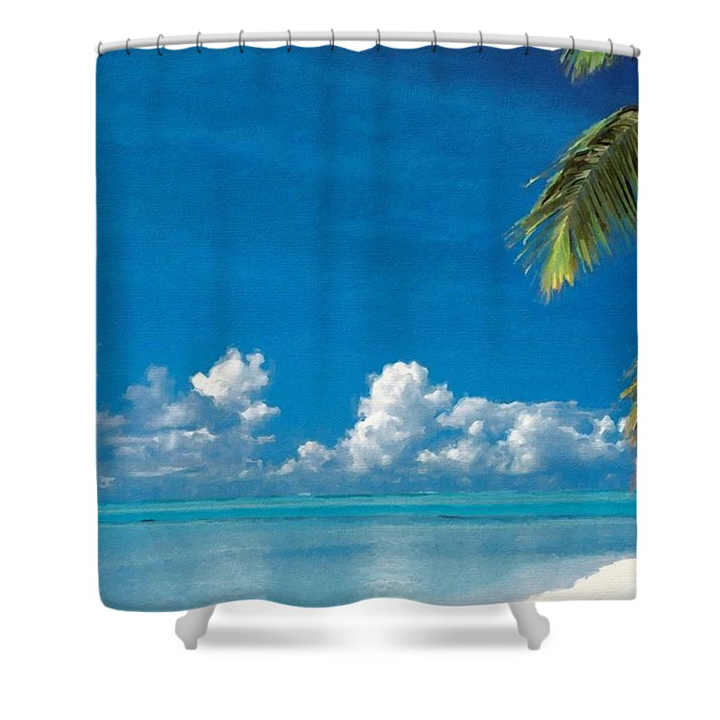 Images Shower Curtain featuring the digital art Landscape Oil Painting For Sale by Usa Map