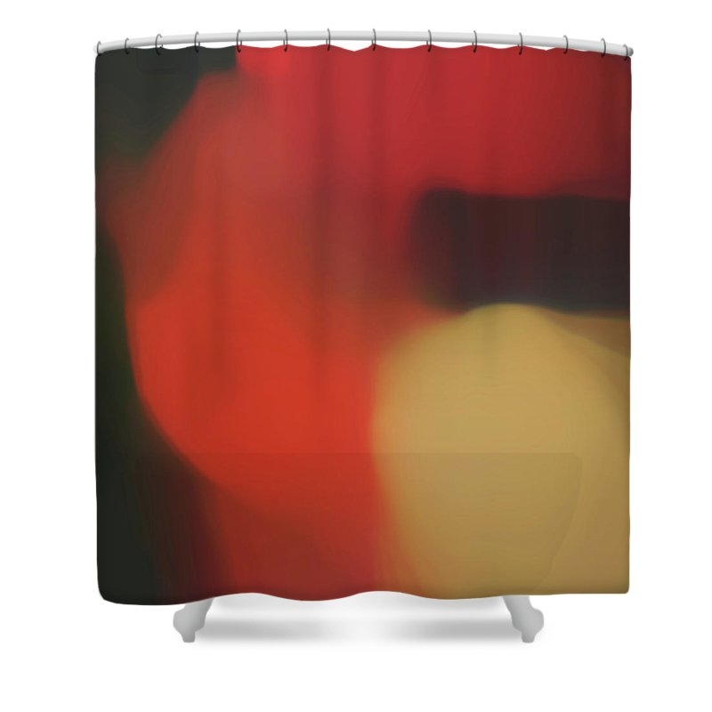 Home Decor Shower Curtain featuring the mixed media Translucent Abstractions Series by Ricki Mountain