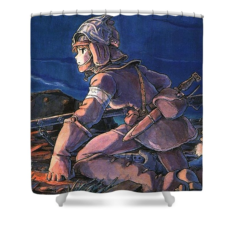 Other Anime Studio Ghibli Shower Curtain Featuring The Digital Art 43590 1